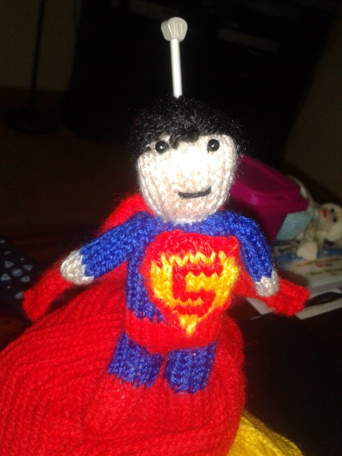 Knitting Pattern Superman Doll : Superman Knitting Pattern
