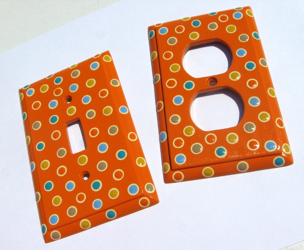 Items Similar To Hand Painted Light Switch Plate Cover And