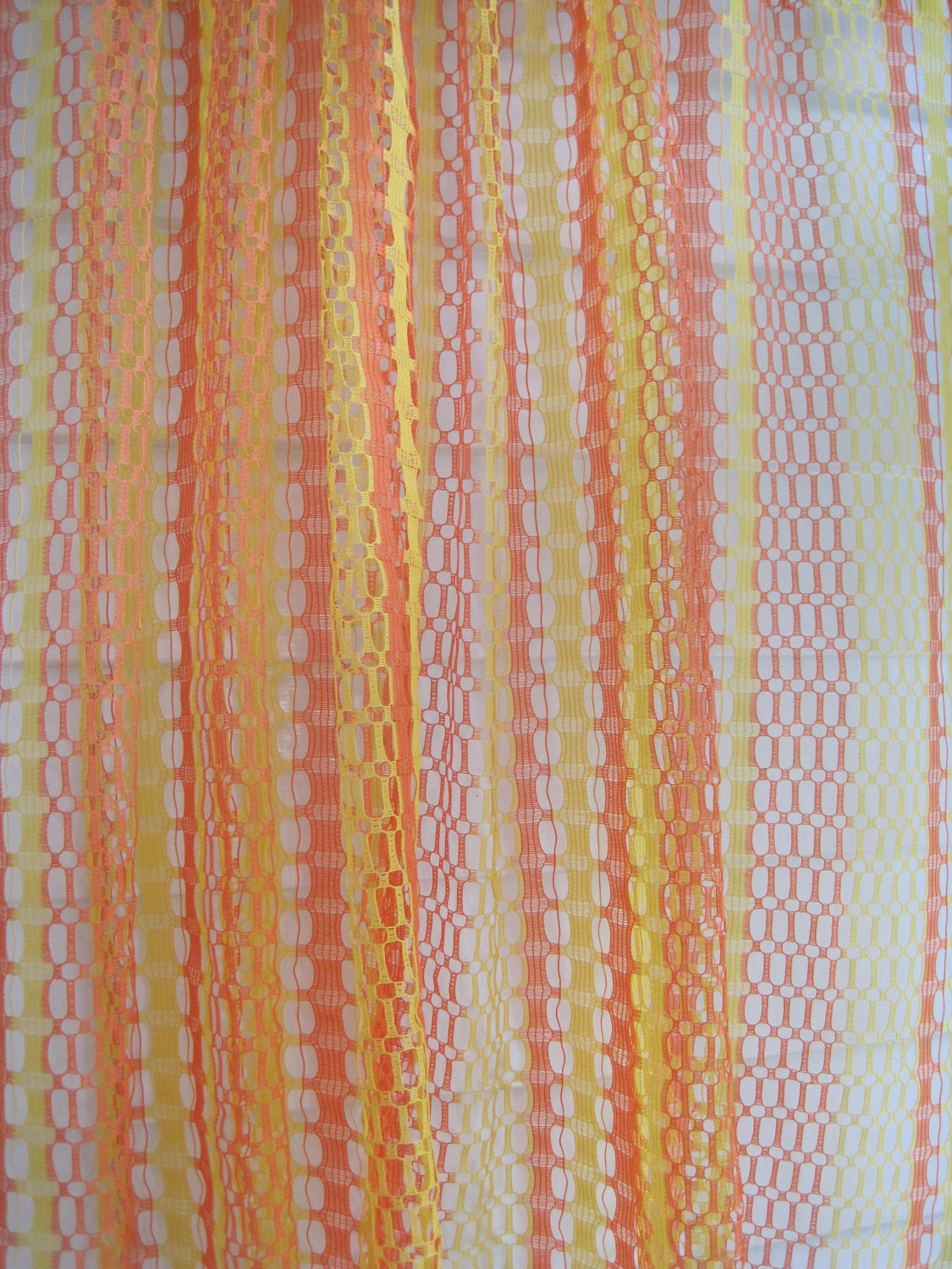 Pink and yellow curtains