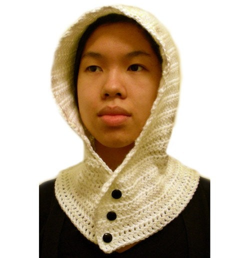 Crochet Pattern Free Hooded Cowl : Hooded Cowl 3 Sizes PDF Crochet Pattern by CrochetSpotPatterns