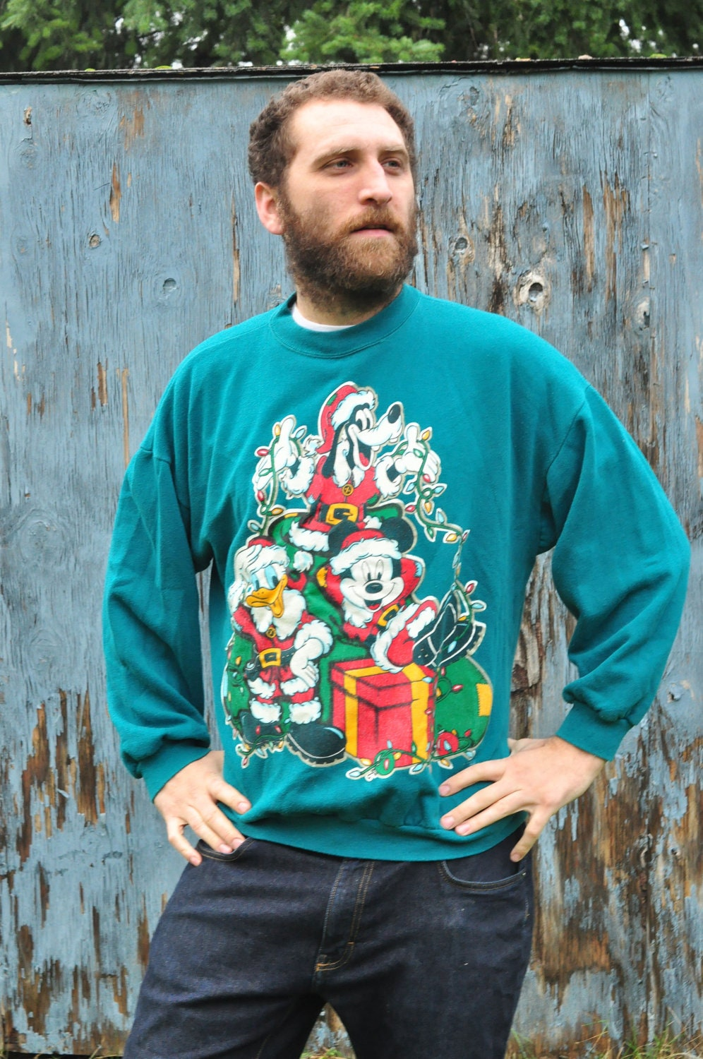 Gangster Ugly Sweater - Cardigan With Buttons
