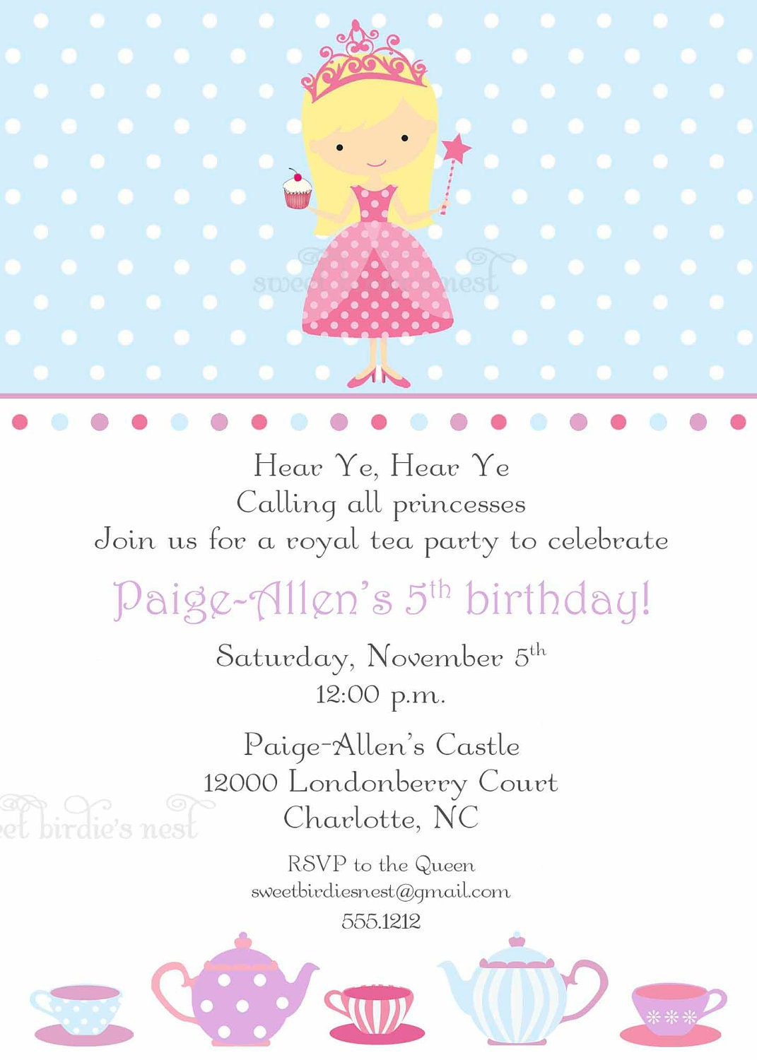 Princess Tea Party Invitations can inspire you to create best invitation template