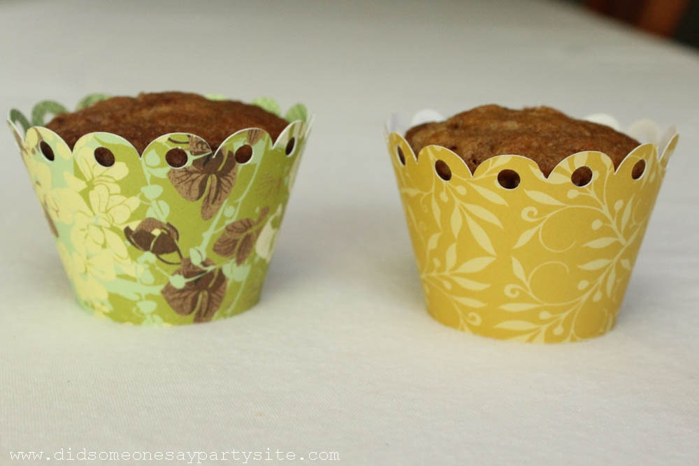 Spring Blossom Cupcake Wrappers - FREE SHIPPING