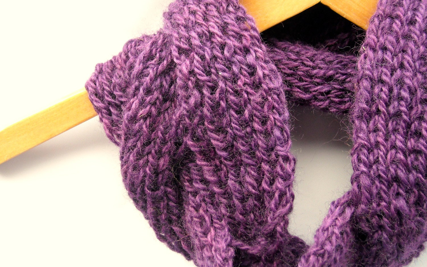 FREE SHIPPING Royal Purple Braided Cable Cowl