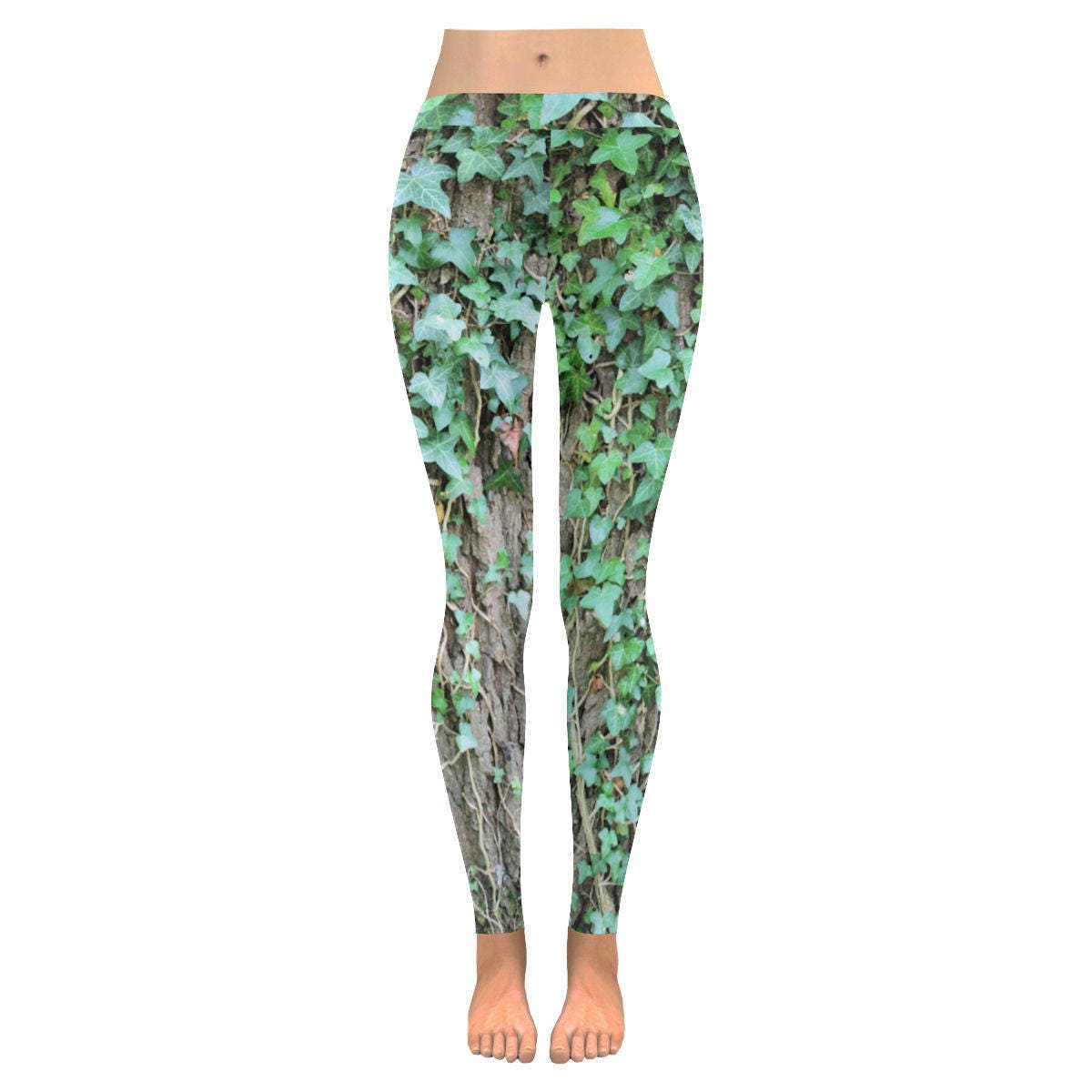 Ivy leggings oak tree nature photo leaves size xs s m l xl 2xl 3xl alternative clothing unique printed leggings green ivy unusual
