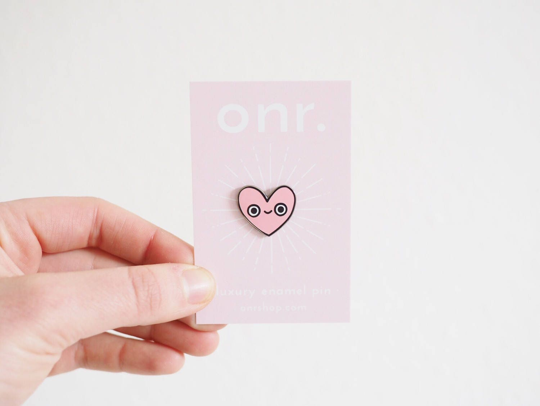 Heart Pal Enamel Pin  enamel pin  pin badge  heart pin  lapel pin  flair  enamel jewellery