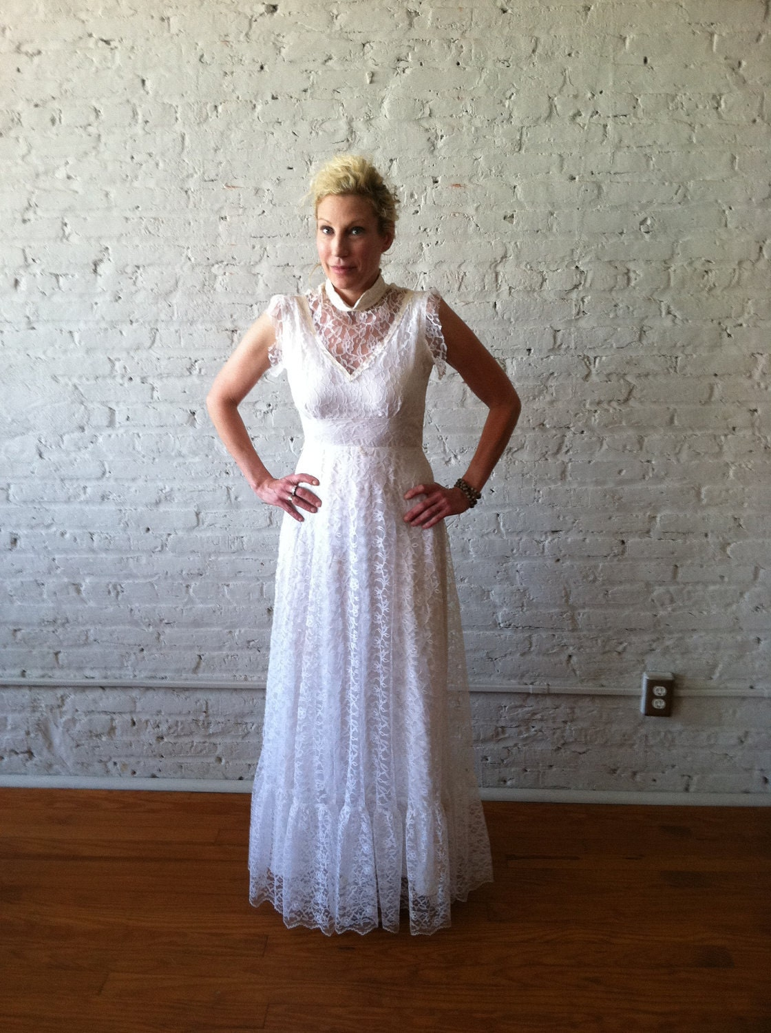 Wedding Dress Lace Italian : Vintage s wedding gown italian lace by avavintage on etsy