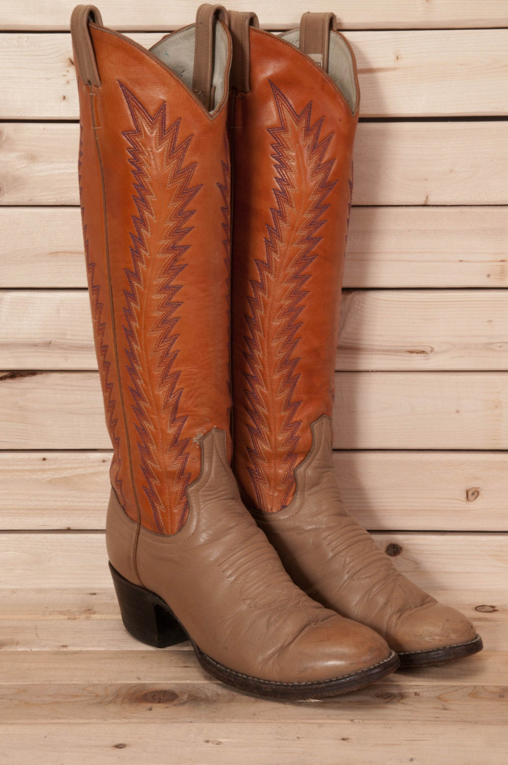 cowboy boots womens size 6 larry by metropolisnycvintage