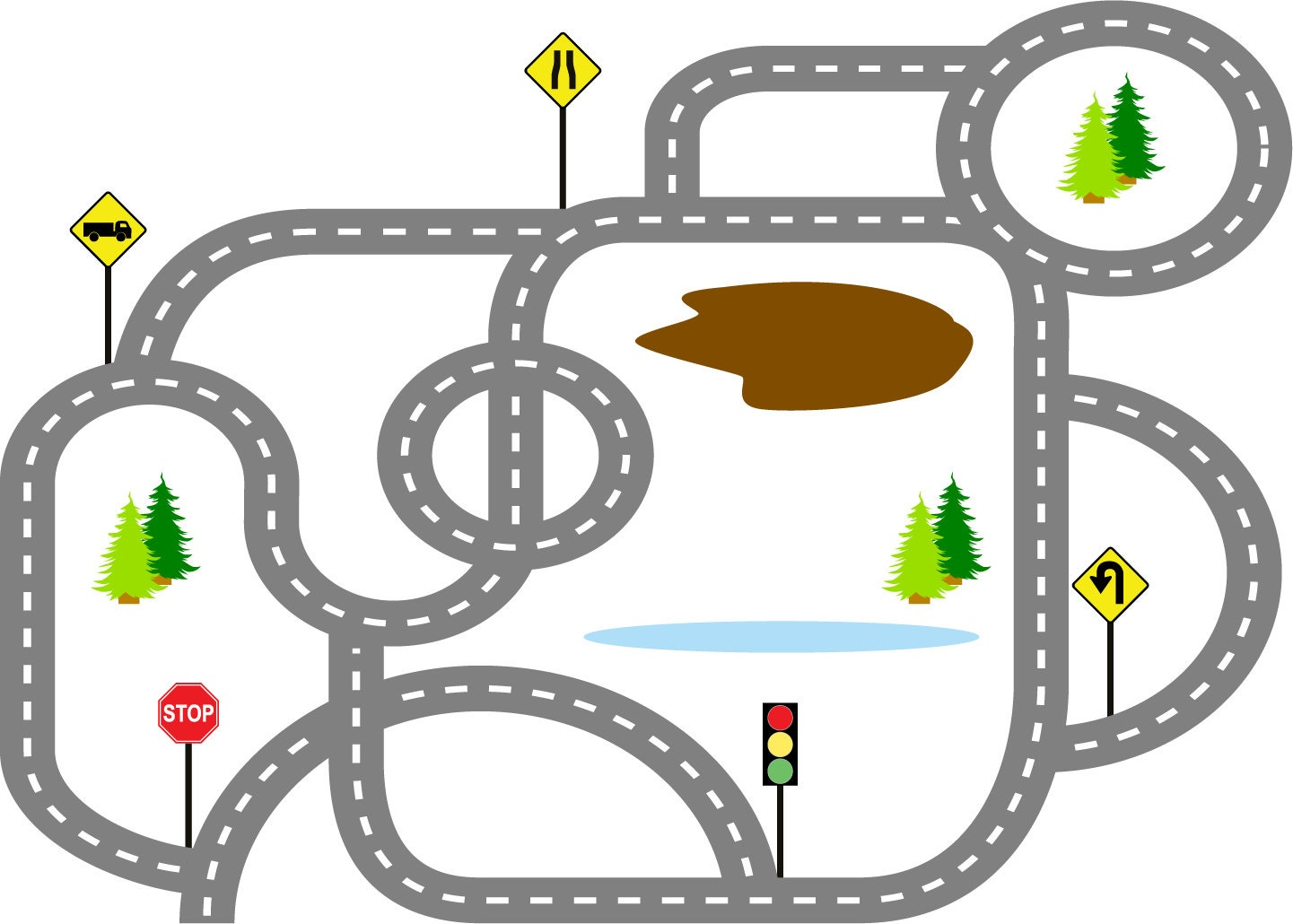 race track road clipart