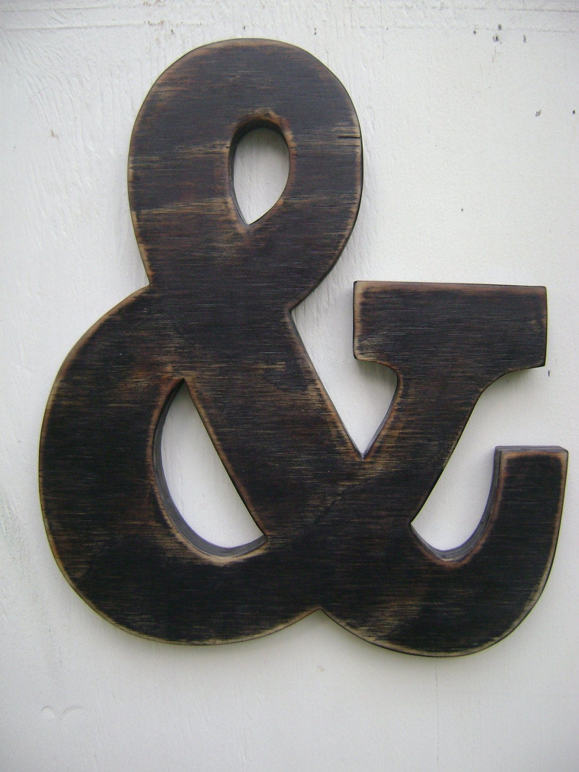 Ampersand and sign rustic wall hanging wooden by for Ampersand decor