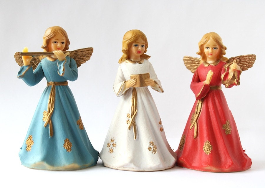angels christmas decorations vintage choir by