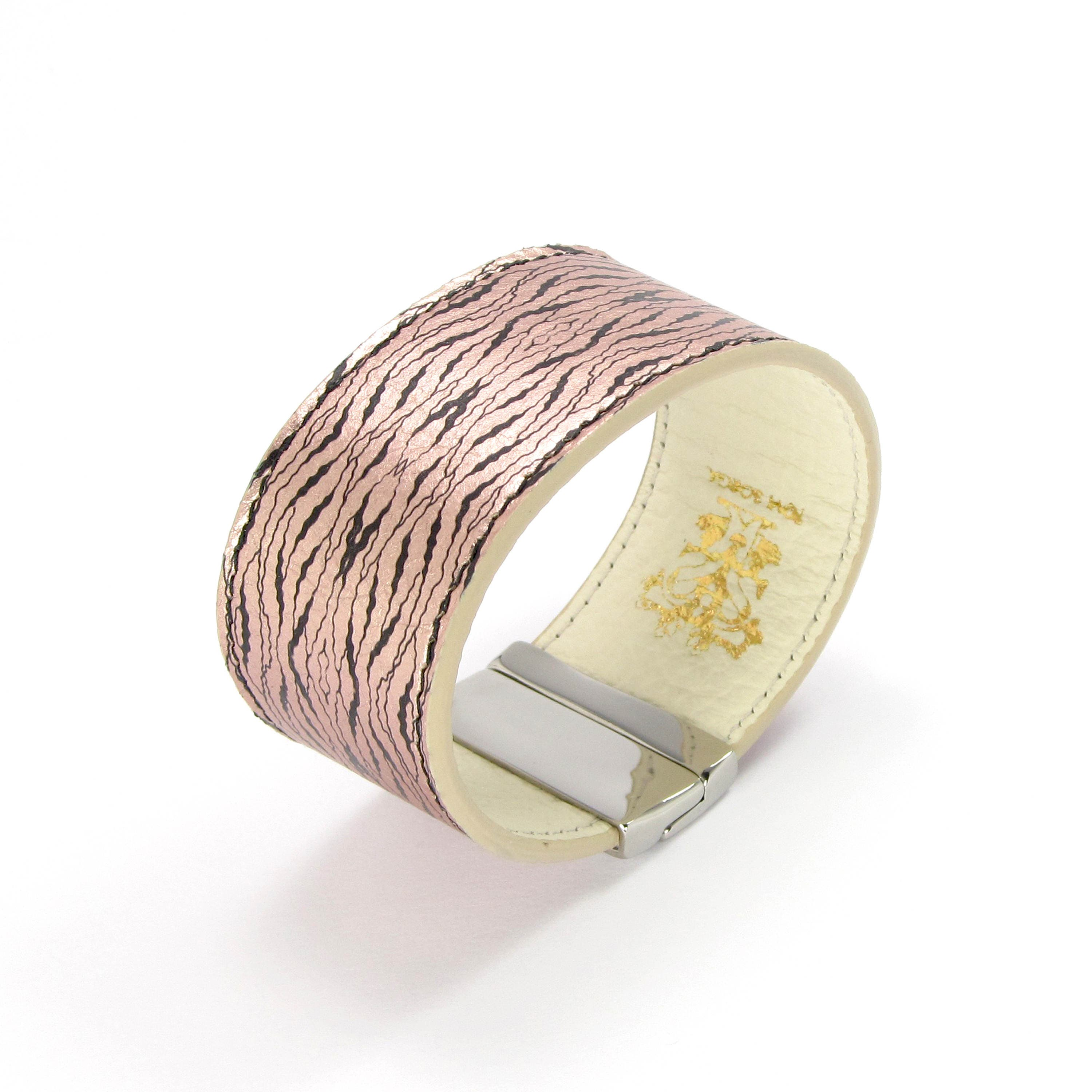 Leather Bracelet also with contactless payment chip  Rose Gold Oyster