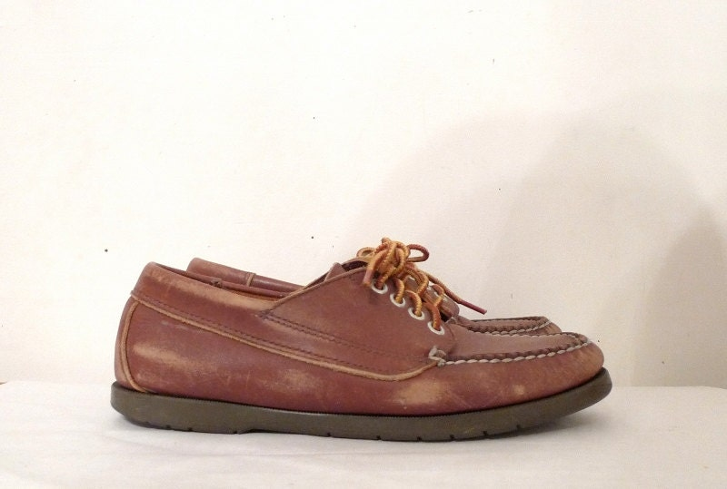 LL Bean Blucher Mocs / Leather Boat Shoes / Moccasins / Docksides