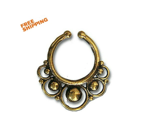 Septum Cuff Nose Cuff Ring Faux Nose Ring Septum Faux Piercing