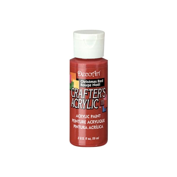 Christmas red decoart crafters acrylic paint by for Can you paint candles with acrylic paint