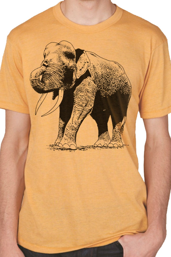 Husband gift cool graphic elephant tshirt mens tshirt by for Graphic t shirts for kids