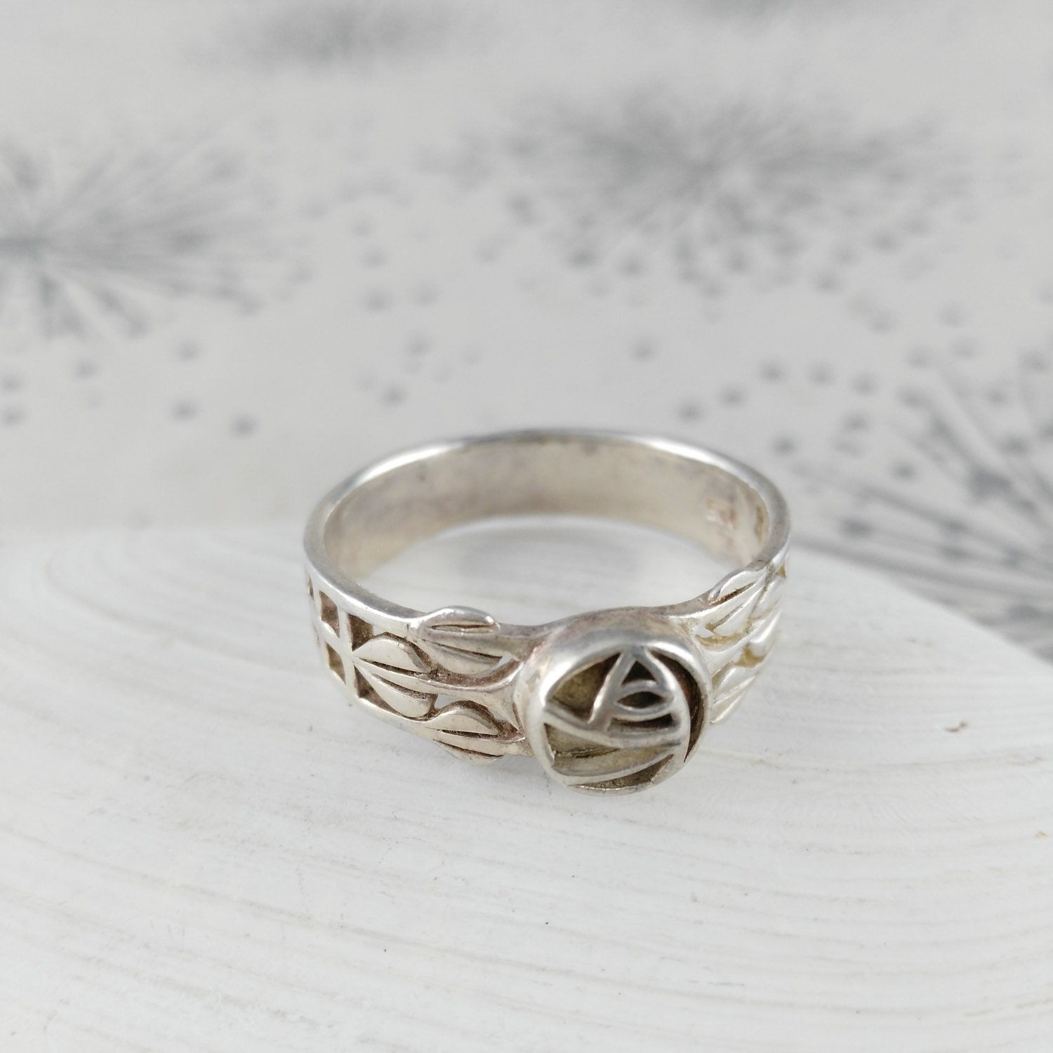 Vintage 925 Silver Glasgow Rose Ring  Anniversary Gift  Gift Her Woman Lady    925 Silver Ring  CRM style Ring