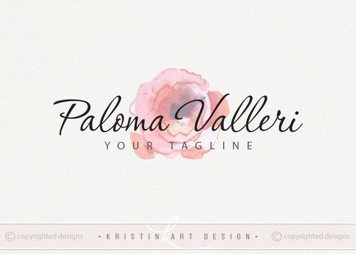 Watercolor logo design free