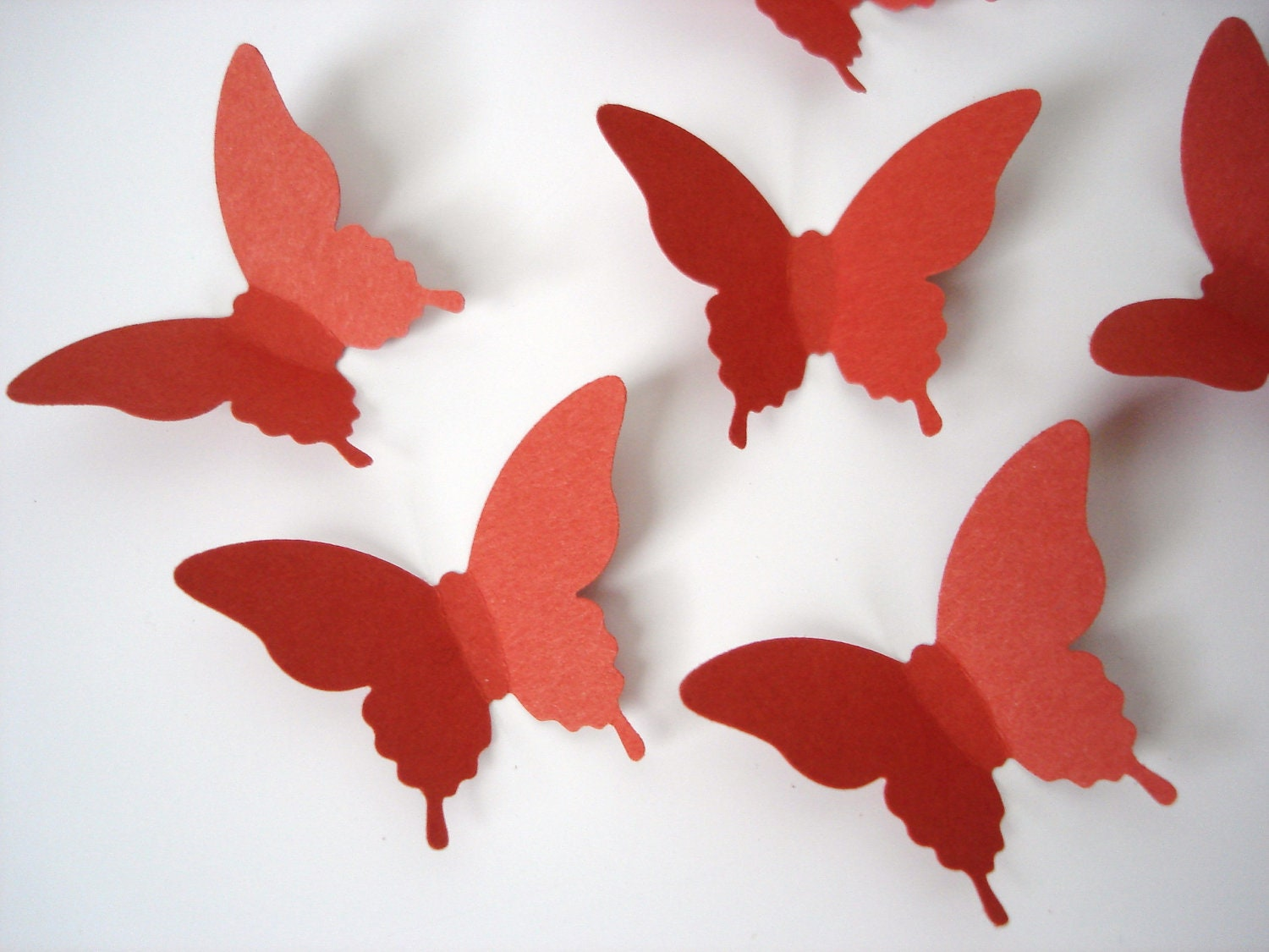 25 Dark Orange Elegant Butterfly Die Cuts Punch Wall Decor Scrapbook Embellishments - No669 - BelowBlink