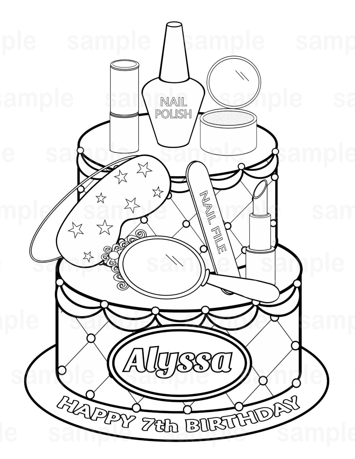spa party coloring pages - photo#1