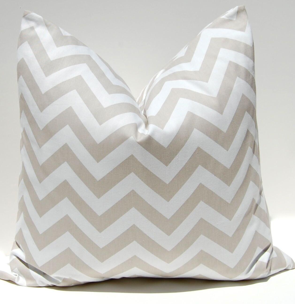 Chevron Pillow Cover ONE Decorative Throw by FestiveHomeDecor