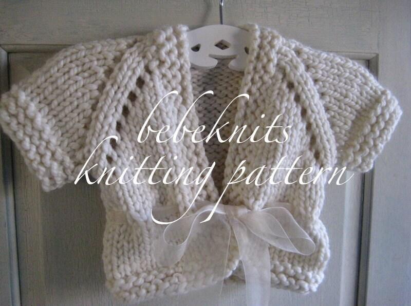 Bebeknits Bulky Ribbon Tied Baby Cardigan Knitting by ...
