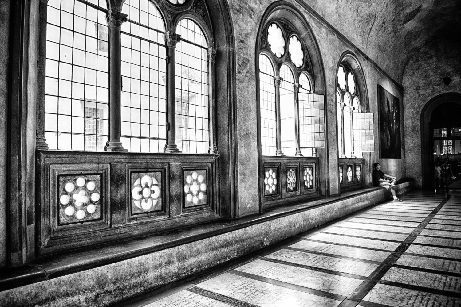 San Croce Basilica, Black and White, (6 Sizes)