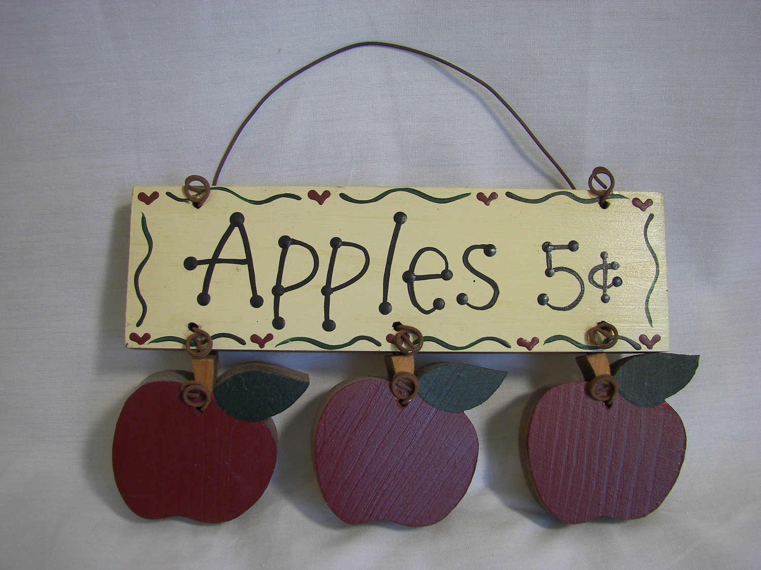 Apples Painted Wood Sign  Orchard