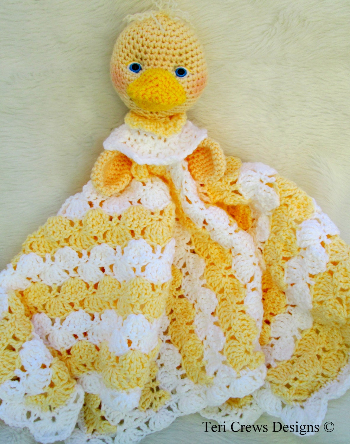Crochet Pattern Baby Blanket Duck : Crochet Pattern Duck Huggy Blanket by Teri by TeriCrewsCrochet