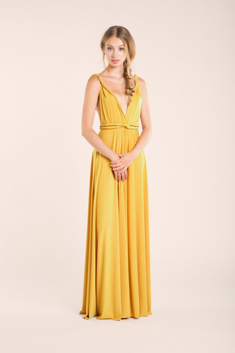 Mustard Yellow Bridesmaid Dresses  The Dress Spot