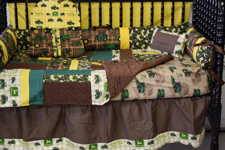 5 Pc John Deere Camo Baby Bedding Free By Bedbugscreations