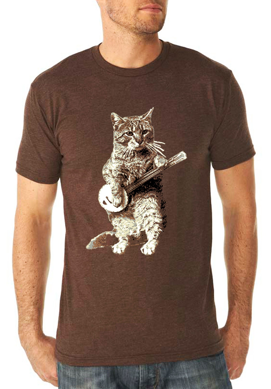 Banjo Shirt Cat Shirt Vintage Design Banjo By Tothemoonandback