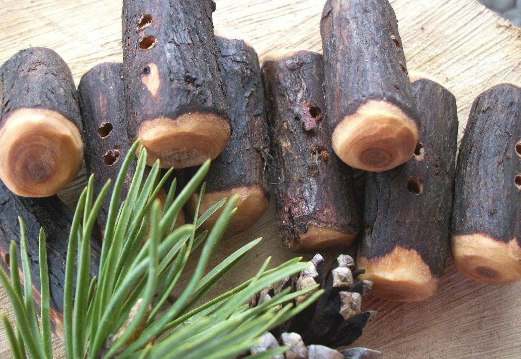 9 Rustic Cedar Tree Branch Toggle Buttons By Thehickorytree