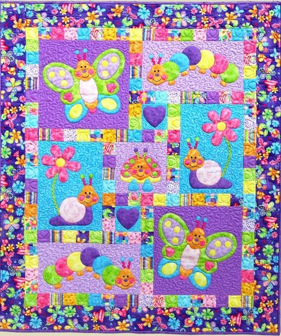 Bugsy Quilt Pattern Adorable Appliqu 233 Amp Pieced By Justforfun