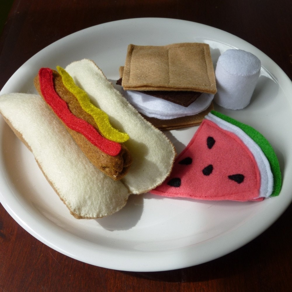 Camping Cookout - Felt Play Food