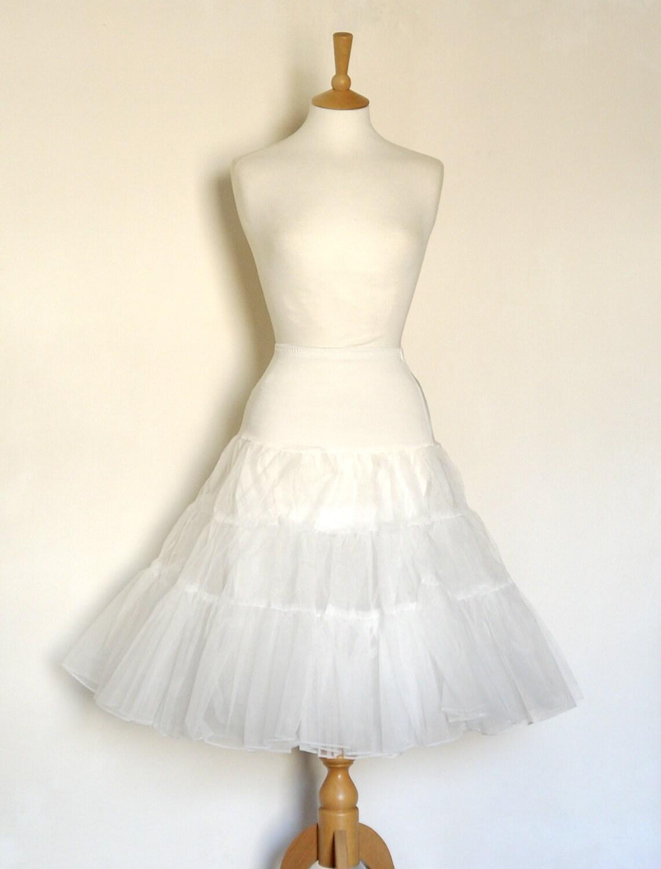 Ivory Off White Tulle Petticoat  Full Fifties Style  Underskirt  Prom  Full Petticoat  Bride  Prom