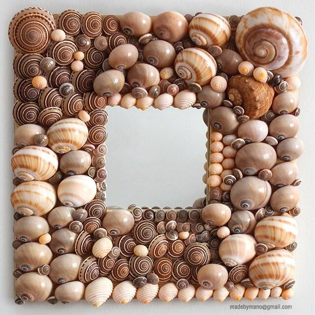 Сложные зеркало раковины с серо-коричневый, серый и коричневый снарядов - IPANEMA