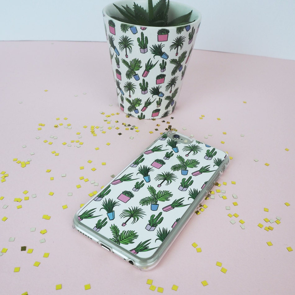 Plant Print Phone Case  Phone Case  Slogan Phone Case  Cactus Phone Case  Rock on Ruby  Sassy Cell Phone Cover  iPhone 6 6S 7 PLUS