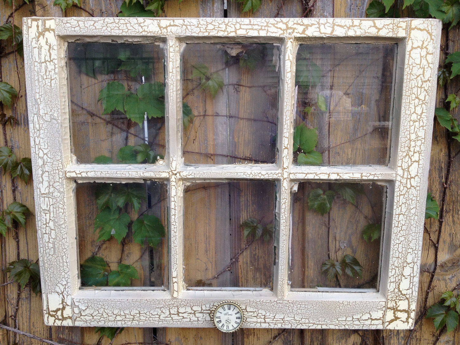 Easter sale old window ivory and bronze crackle by for Windows for sale
