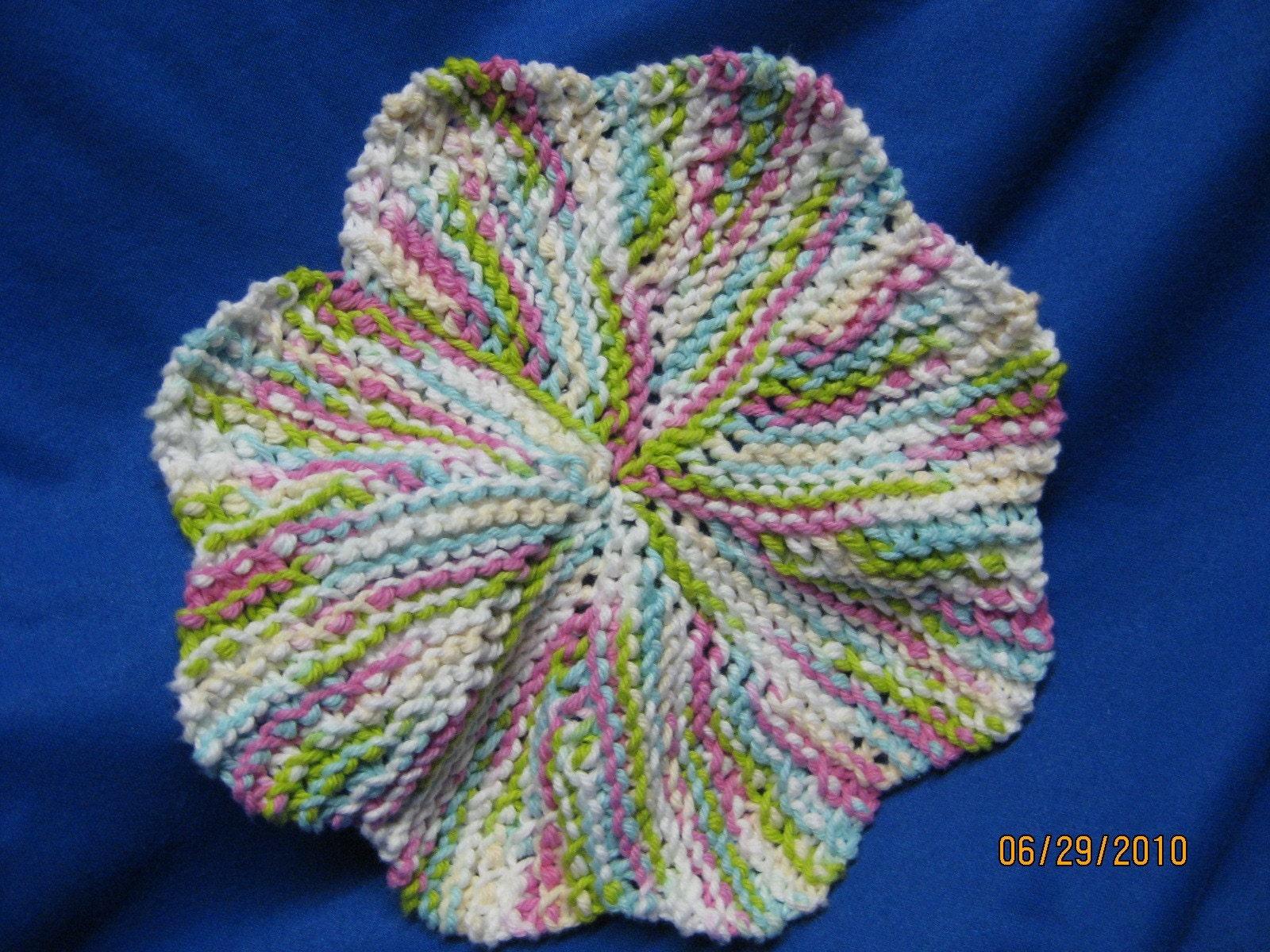 Handmade Knitted Dishcloth Round Lava Lamp by sewfuncreations1988
