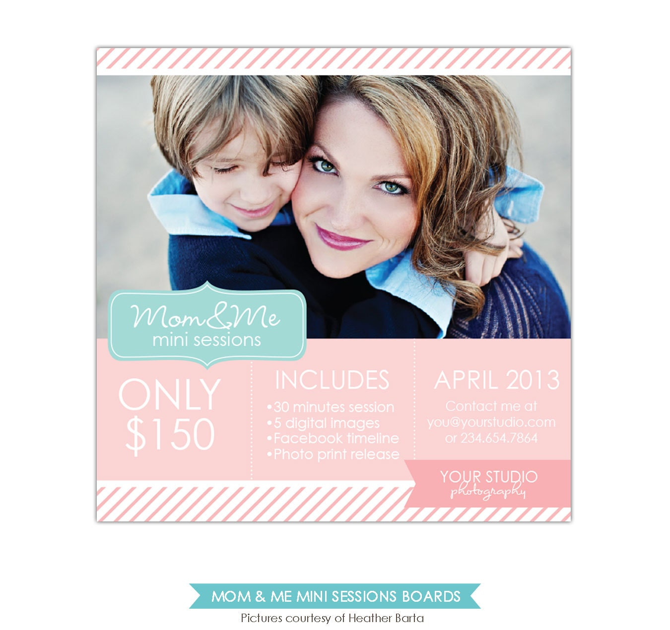Mother's Day Mini Session Template PSD Newsletter By Birdesign