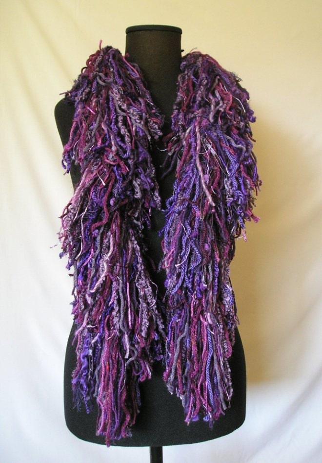 items similar to boa crochet fringed scarf on etsy