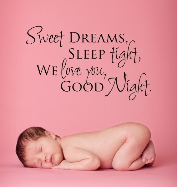 vinyl lettering sweet dreams sleep tight by designdivaswallart