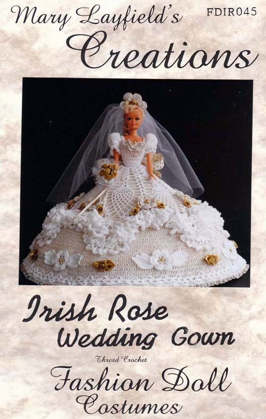 Free Knitting Pattern For Barbie Wedding Dress : Crochet Barbie Doll Wedding Dress Mary by sewvintageladies on Etsy