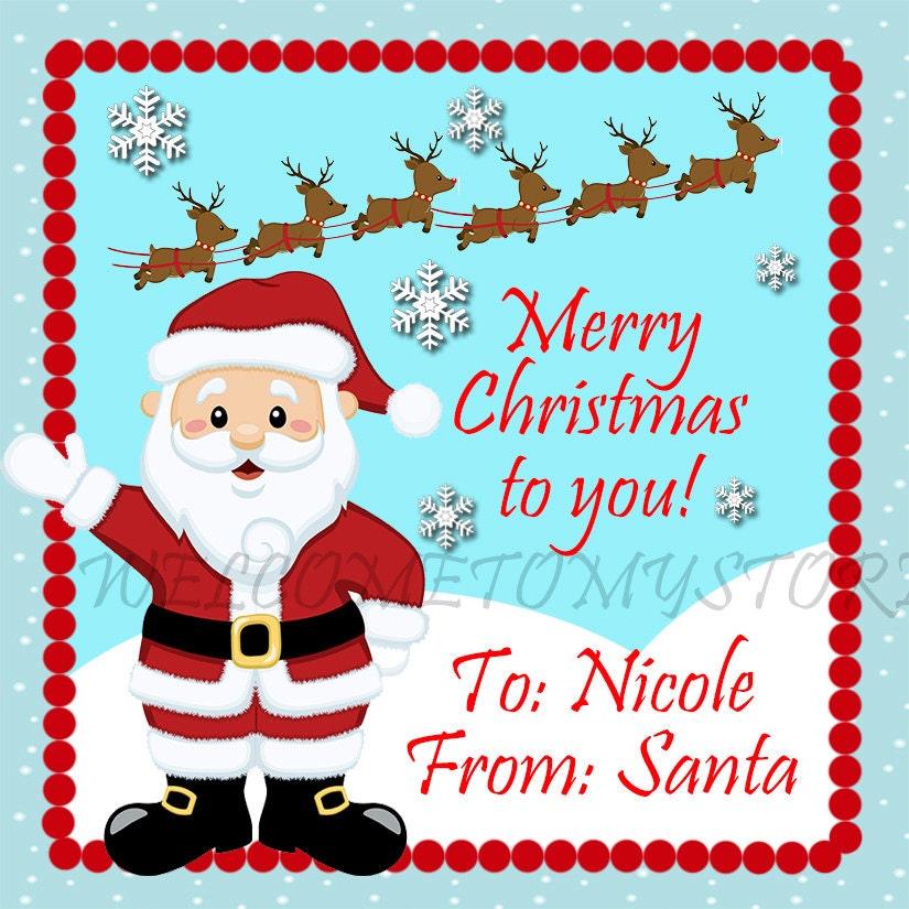 Items similar to DIY Santa Claus Christmas printable gift tags on Etsy
