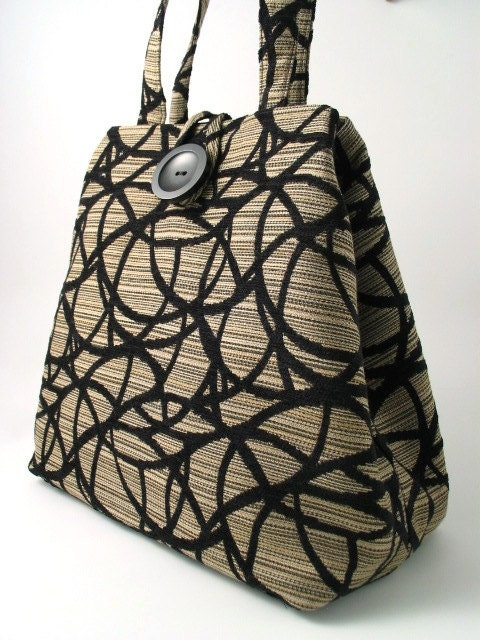 handmade XL hobo, tote 2 way bag italian tapestry