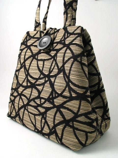 handmade XL hobo, tote 2 way bag italian tapestry