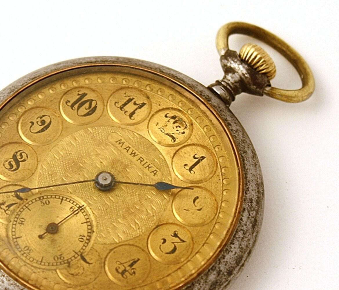 antique pocket mawrika gold color by