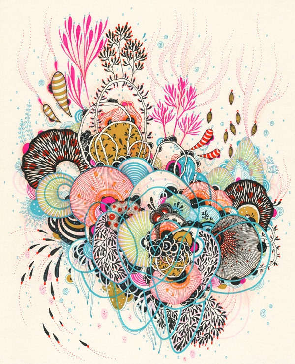 Giclee Fine Art print - Glimpse - Print SALE - Buy 2 Get 1 Free - yellena