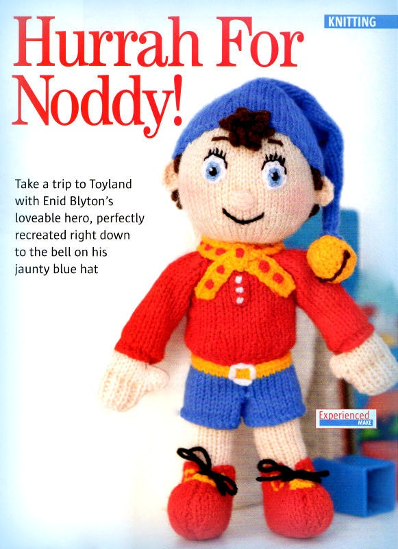 PDF Knitting Pattern  Noddy Toy Knitting Pattern  Instant Download